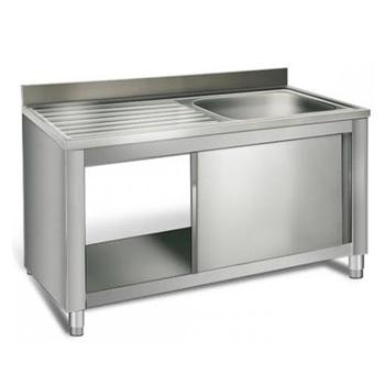 Sliding Door Sink Base Industrial Commercial Kitchen Modular Metal  Stainless Steel Cabinets For Sale - Buy Modular Kitchen Cabinets,Stainless  Steel ...