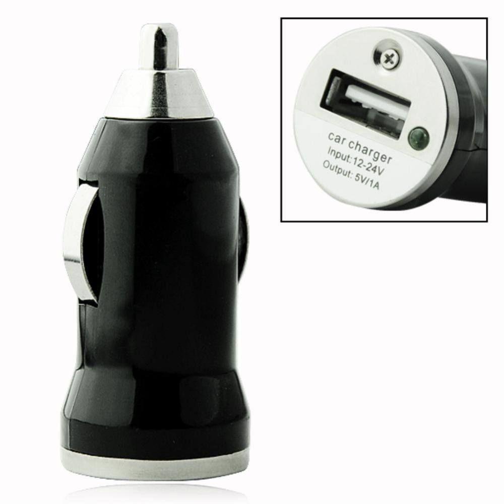 EE4243 USB PORT UNIVERSAL Power Adapter MINI CAR CHARGER Adapter For Cell Phone BLACK