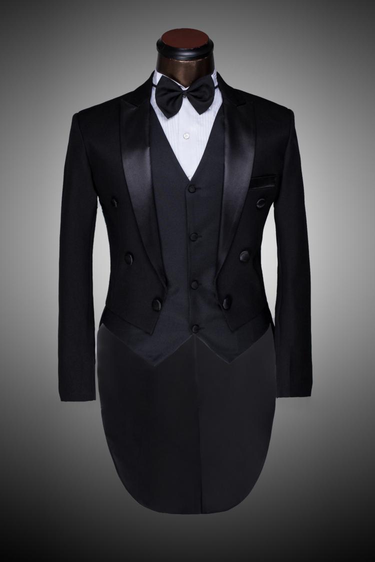 Male Custom Groom Prom Suit 2015 Mens Tuxedo Black And