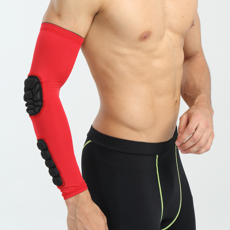 Fitted LOGO unisex sport shooter Arm sleeves with elbow pad