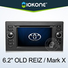 "6.2"" HD 2 din touch screen toyota mark x car audio with gps, TMC, camera, mic, dvb-t"