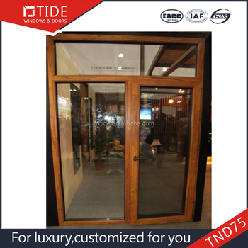 Aluminum And Wood Windows Doors 45 Degree Crimping Workmanship
