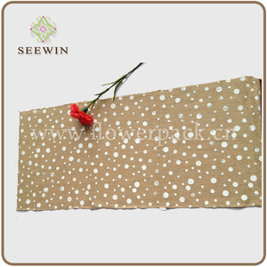 Popular printing artificial jute roll for table runner