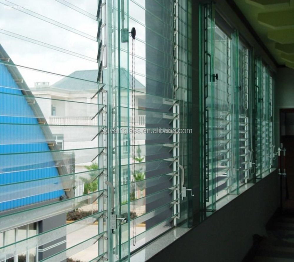 Precio de lamas de vidrio sin marco de vidrio ventanas con - Precio del vidrio ...
