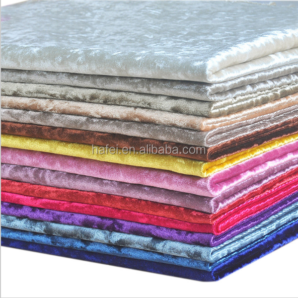 luxury soft colorful thick flocked velvet fabric