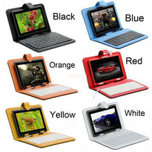 Free shipping Case Bag & Keyboard for 7 inch 7″ Tablet pc keyboard case computer accessories tablet case tablet cover