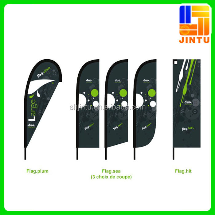 Promotional feather flag / feather flag with stand and base