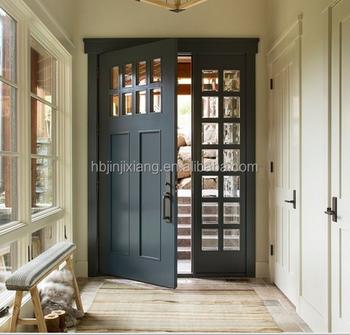 Elegant Modern Wood Front Entry Doors Solid Design