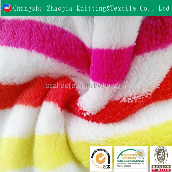 Alibaba trade assurance KNITTING manufacturer fashion printed wholesale coral fleece , blanket fabric