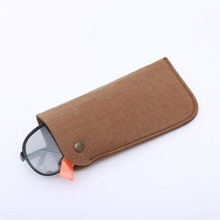 Unisex promotion fashion recyclable soft felt sunglasses pouch eyeglasses bag case