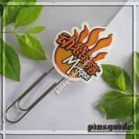 Promotion Personalized Flat Plastic Paper Clip Printed Logo For Advertisement
