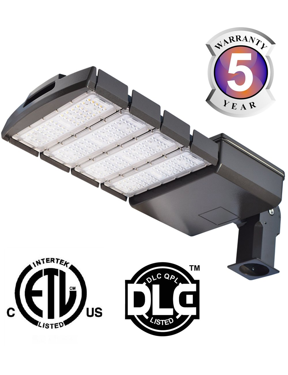Docheer 22000 Lumen - 200W LED Shoebox Pole Light LED Parking Lot Area Lighting Fixture - Outdoor Commercial Waterproof Security Lighting - Street Road Light- Slip Fitter Mount, Daylight White 5300K
