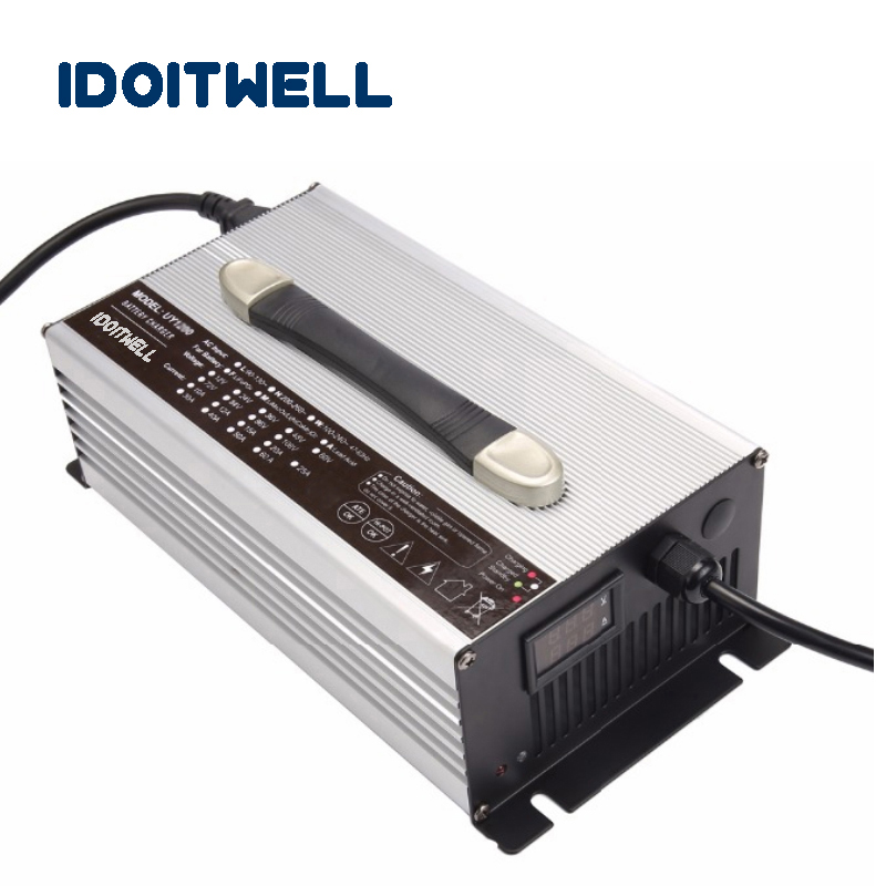 Customized 900W series 12V 40A 24V 25A 36V 18A 48V 15A 60V 12A 72V 10A 84V 8A battery charger with Voltage and current display