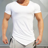 2019 new fashion casual running gym fitness mens fishtail tank top