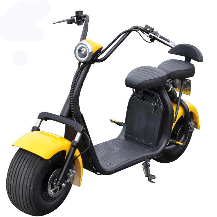 newest removable double battery 40a long distance citycoco fat tire electric scooter, Black red white brown