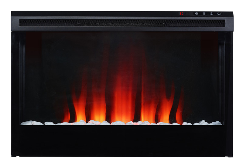 colorful solid wood electric fireplace mantel