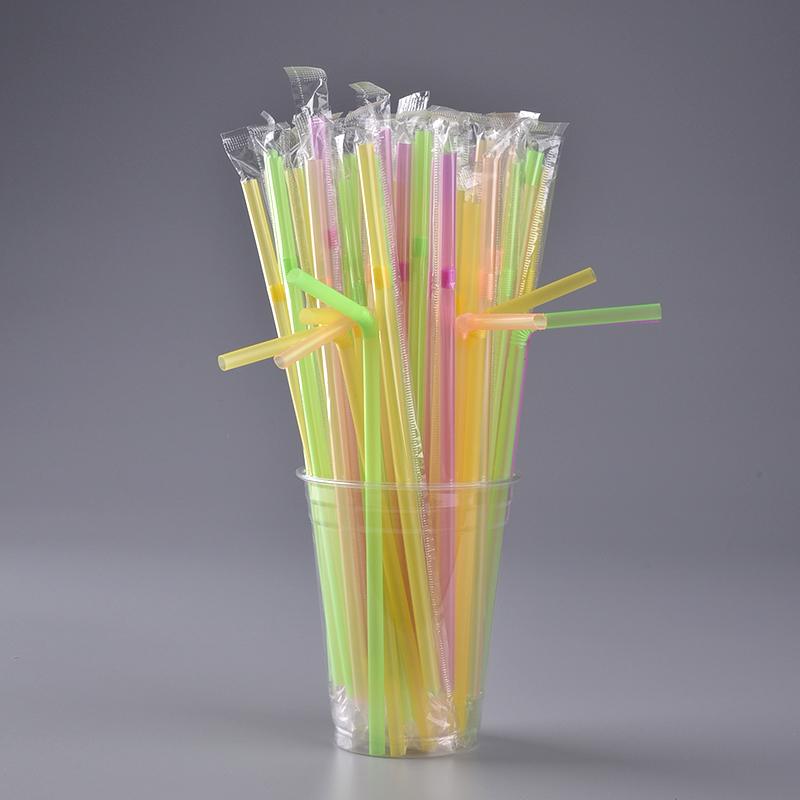 20cm 8mm Straight Glass Tube Drinking Straw Sucker 1 Cleaning Brush Set