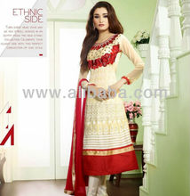 Semi gestikt Anarkali suits