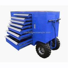 metal trolley toolbox storage with aluminium handle