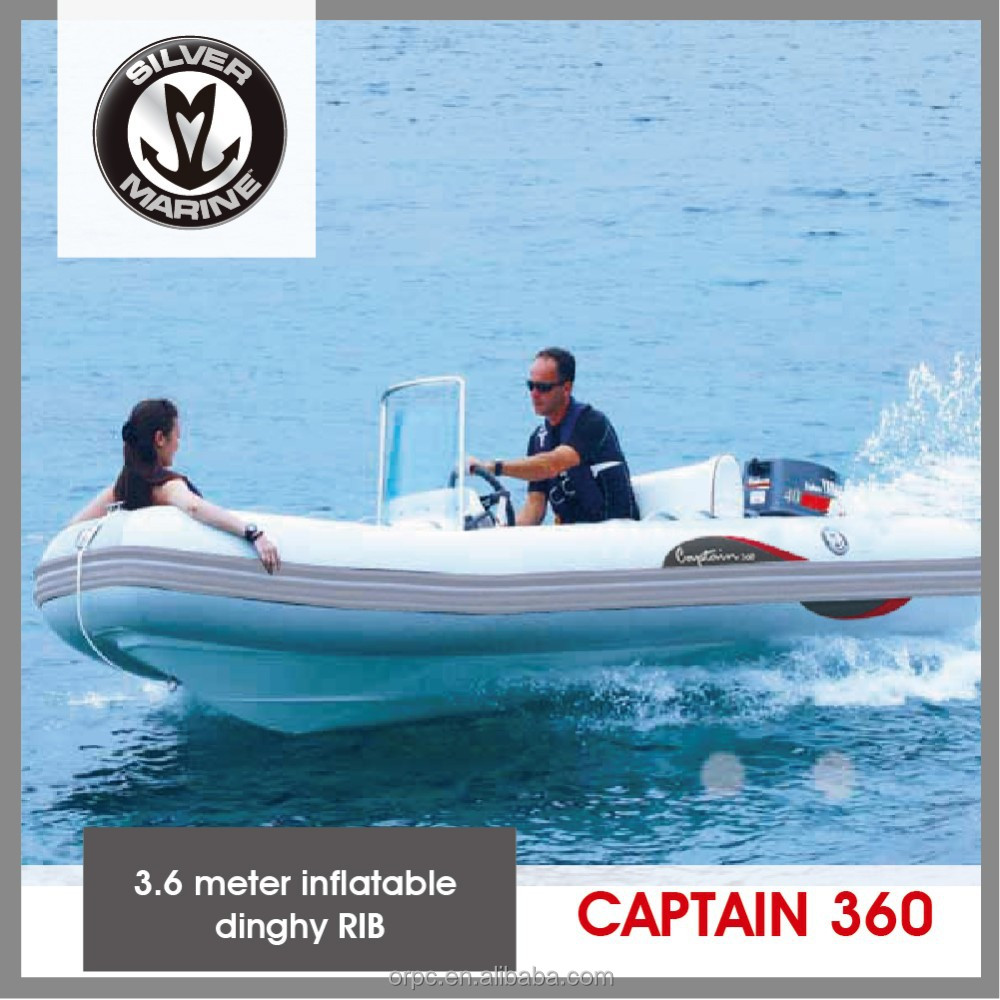Silver Marine 3.6 meter inflatable dinghy RIB (Captain 360)