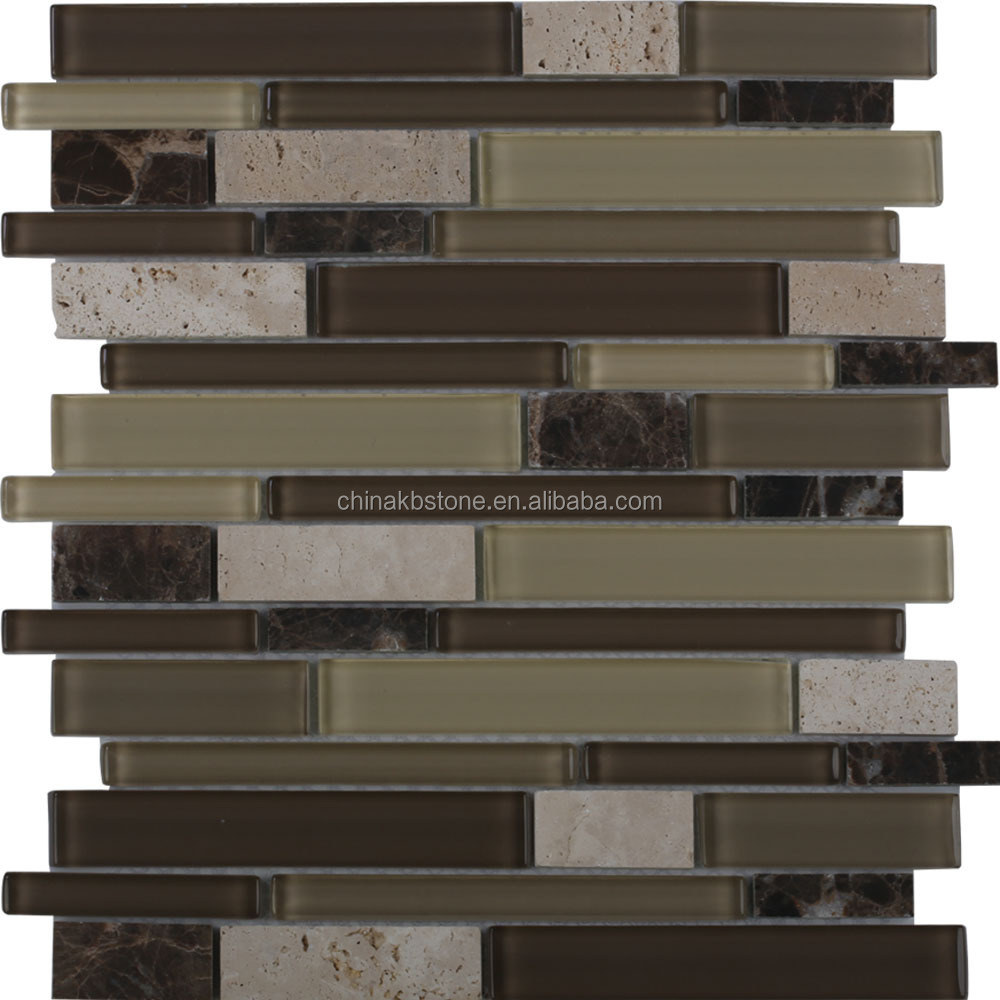 Lange strook bruin mozaïek glazen tegel voor home decor mozaïeken ...