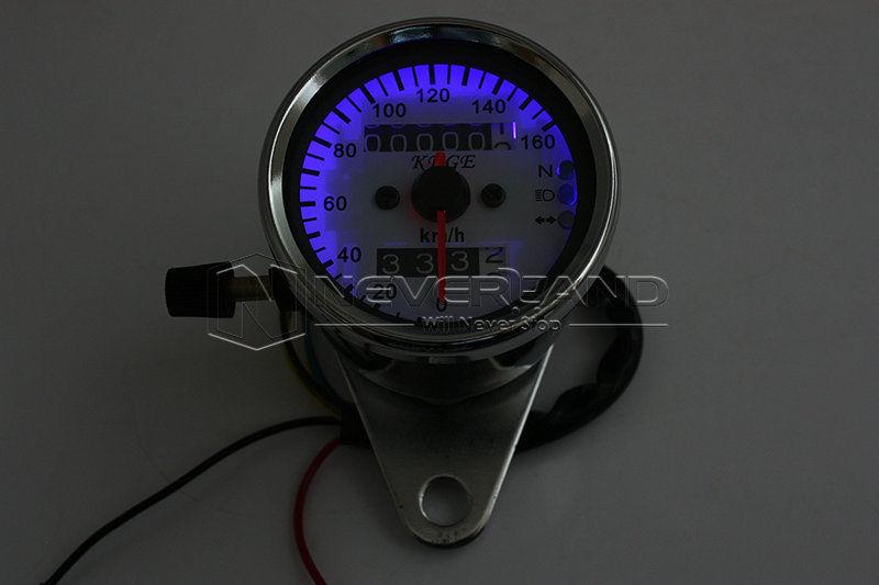 Universal мотоцикл двойной пробега спидометр измеритель жк-подсветки из светодиодов сигнала лёгкие с20