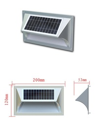 Up and Down Led Flat Panel Solar Led Stair Wall Light For Home