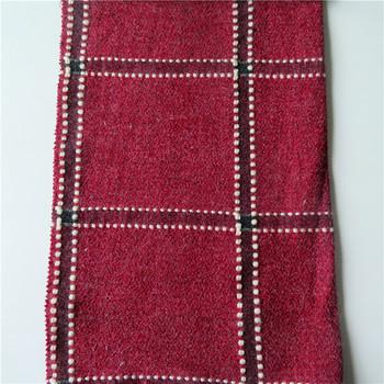 Nhà máy giá tweed 360 gam/m2 lớn kiểm tra polyester len acrylic ...