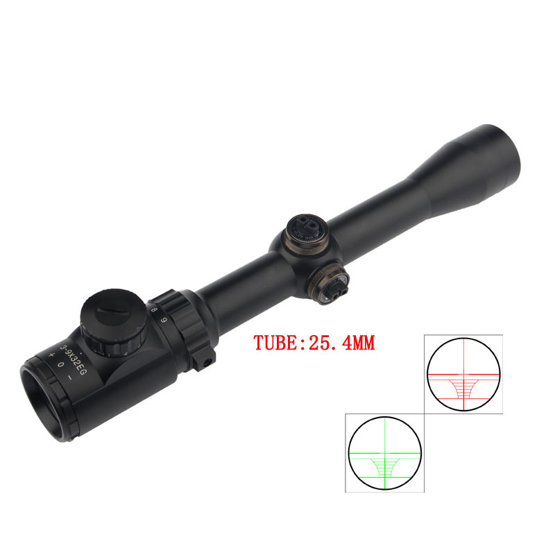China product vector optics 3-9X32E Red Green Illuminated Reticle Riflescope Sniper Scope with 20/11mm Rail Mounts for Hunting
