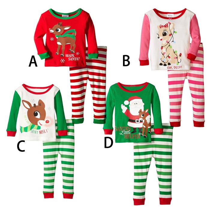 124b0622a El mejor precio de fábrica de los niños 100% algodón pijamas de Navidad  Camiseta de