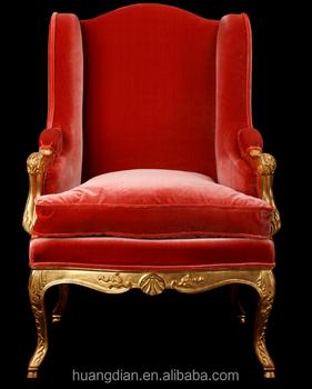 Louis Xiv Chair Fabric Antique Armchair Sofa Vintage