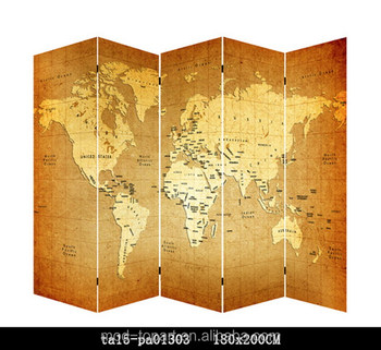5 panel double painted world map canvas privacy room divider screen 5 panel double painted world map canvas privacy room divider screen gumiabroncs Image collections