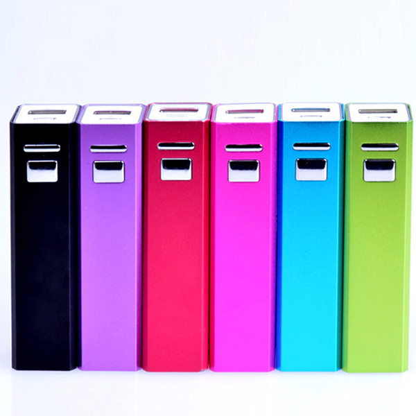 High Quality Metal 2600 Smart Mobile Power Bank, Portable Mobile Power Bank