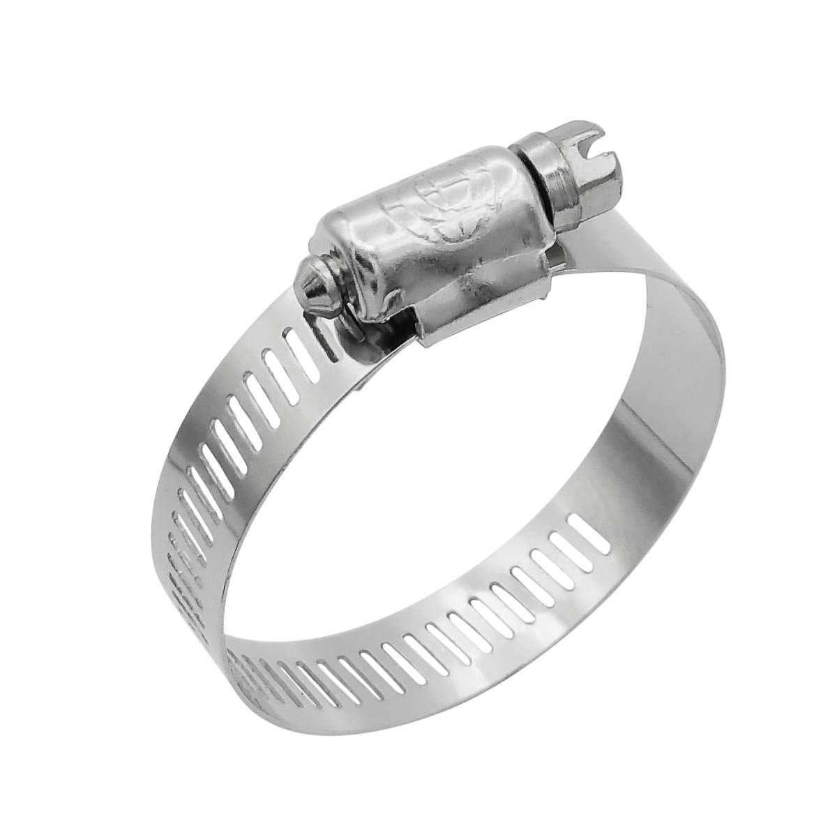 """Cambridge SAE Size 28 Worm Gear Hose Clamps, 10 pcs/Box. 1/2"""" Band Size, Min Dia 1-5/16"""", Max Dia 2-1/4"""", Exceeds 60 inch-pounds of torque. Stainless Steel Band & Housing, Zinc Plated Screw."""