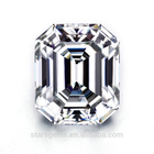 Wholesale GRA Certified 10x8mm Super White Emerald Cut Loose Moissanite Diamond For Jewelry Making
