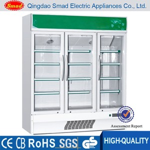Supermarket refrigerator/vegetable refrigerating showcase/upright display fridge for supermarket