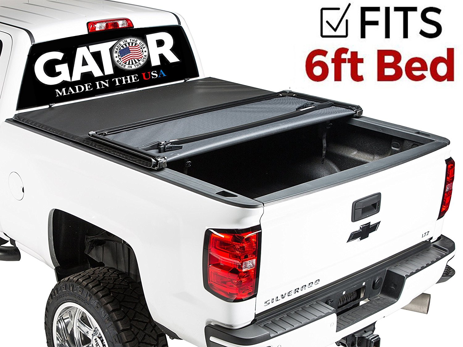 Gator Tri-Fold Tonneau Truck Bed Cover 2015-2018 Chevy Colorado GMC Canyon 5 ft Bed