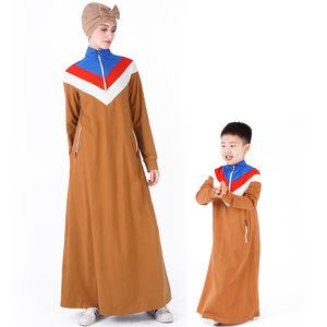 2019 contrast colored school gym muslim  sport abaya dress islamic girl execrise long dress for United states