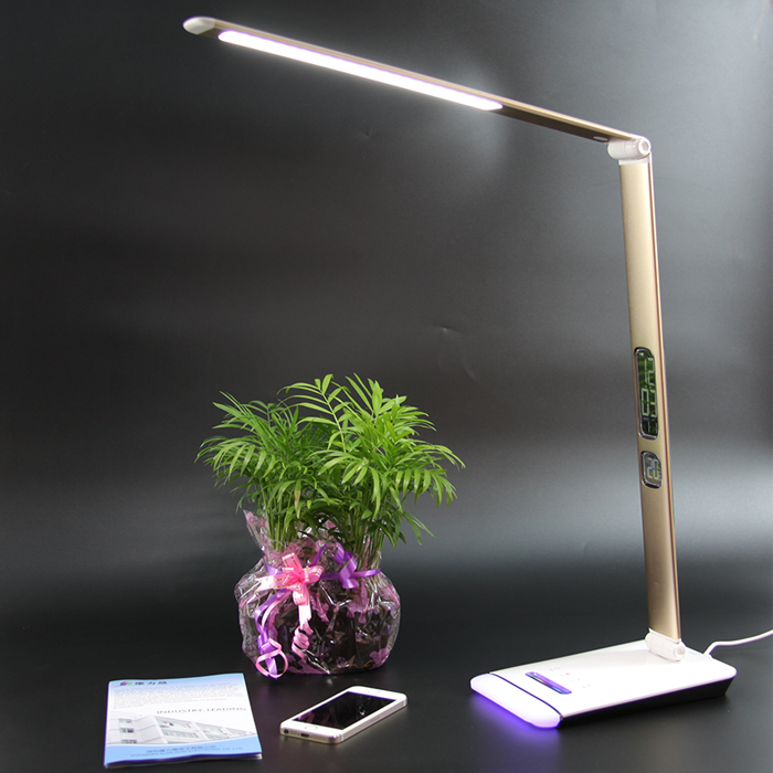 Modern Led Table Lamp 3 Mode Light Option With Touch Pannel And Calendar Alarm Clock