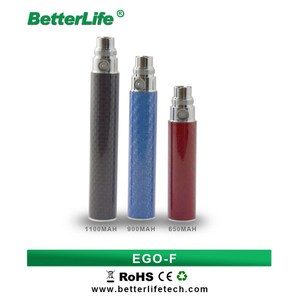 hot selling carbon fiber battery ego-f electronic smoking vapor cigarette