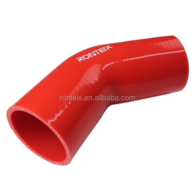 Ronteix 4-ply dritto tubo in silicone rinforzato 76/mm Lunghezza , rosso//nero 7,6/cm 76/MM