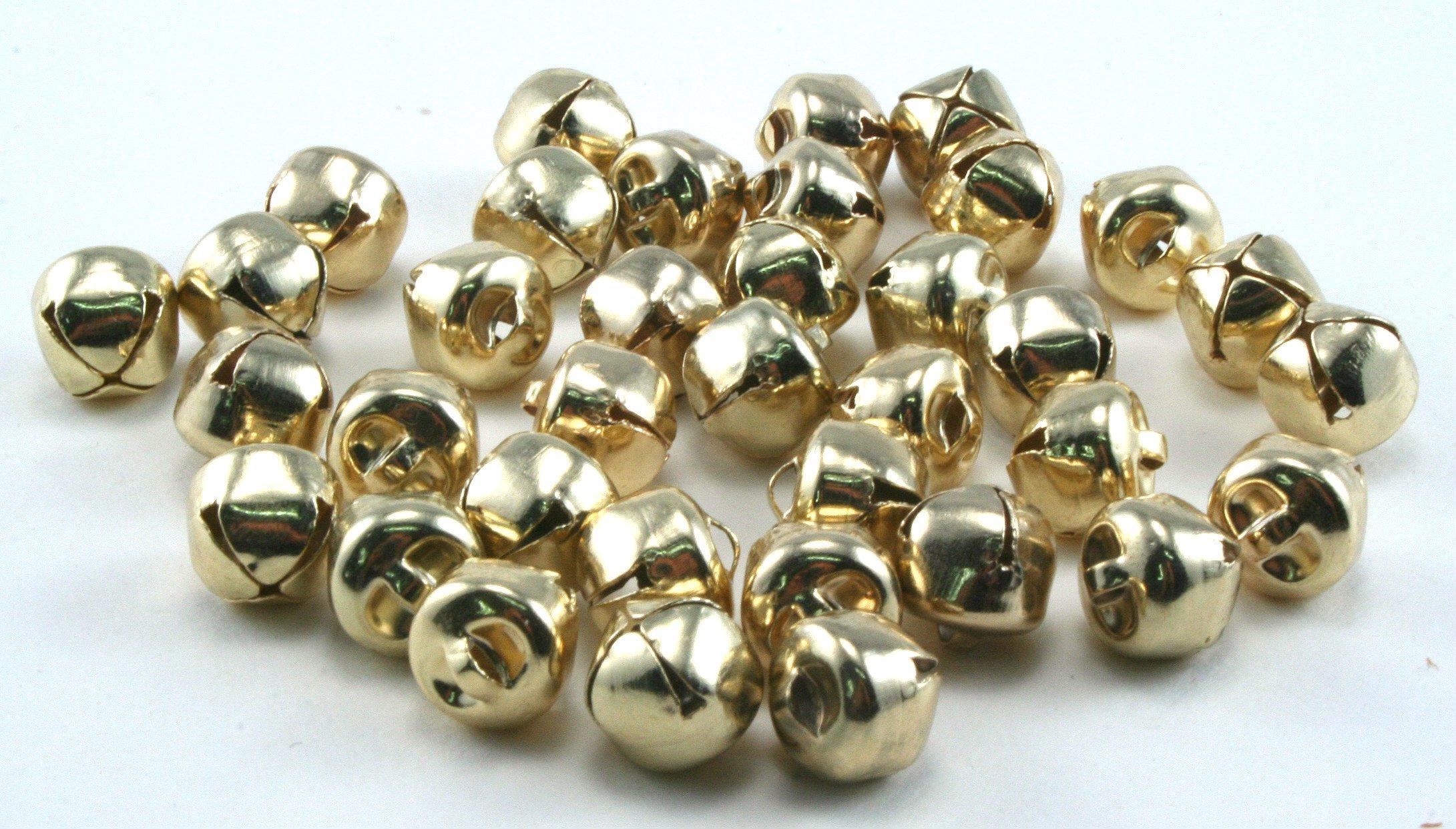 - 0.75 inch 200-Count Value Bulk Jingle Bells Decorative Supplies 20mm Holiday Bell D/écor - Kraft Jingle Bells -
