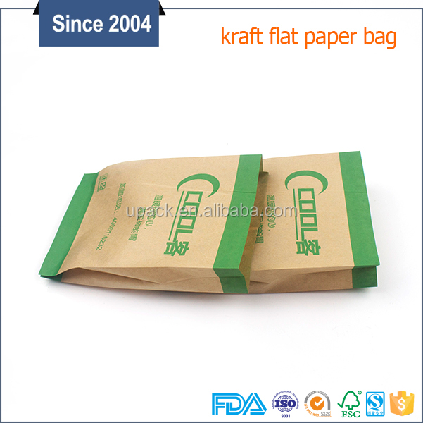 SGS cheap food grade kraft paper bag, snack packing fast food takeaway paper bags