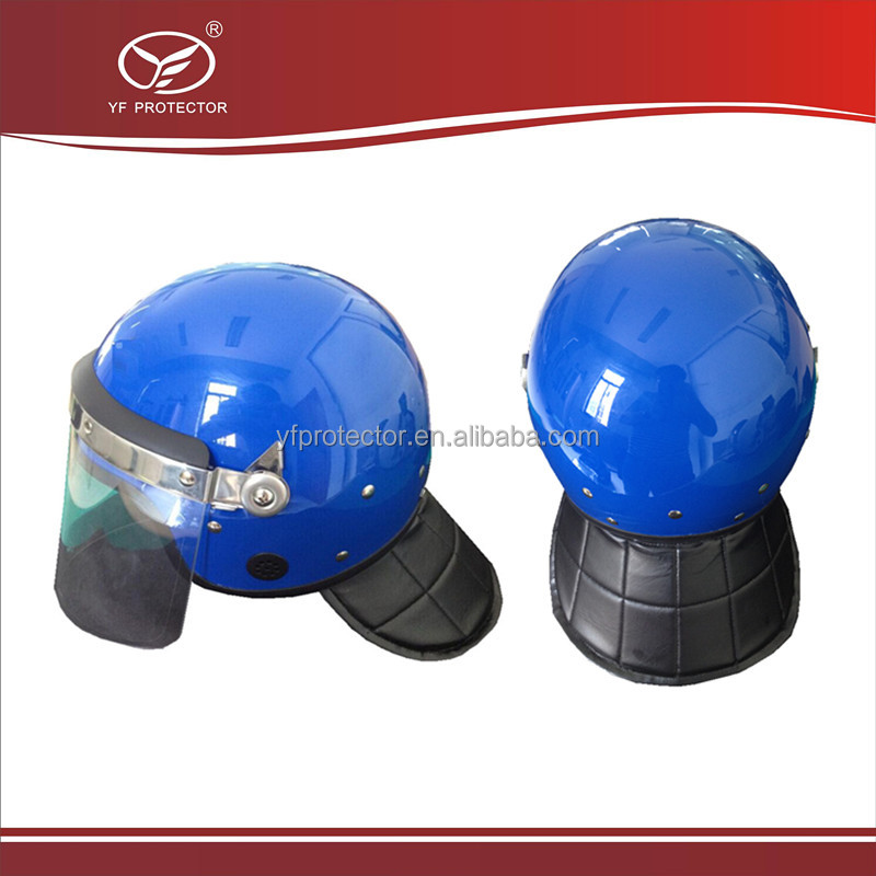 military style protective helmet/army helmet for riot control with neck protector