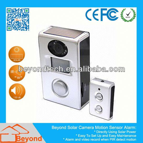 Touch Screen Vehicle Dvr / Car Camcorder Solar Camera Alarm With Video Record and Solar Panel