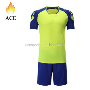 8d23320ec2208 Sublimação camisa e calça conjuntos de combinações de cores esportes  poliéster novo modelo online uniforme do