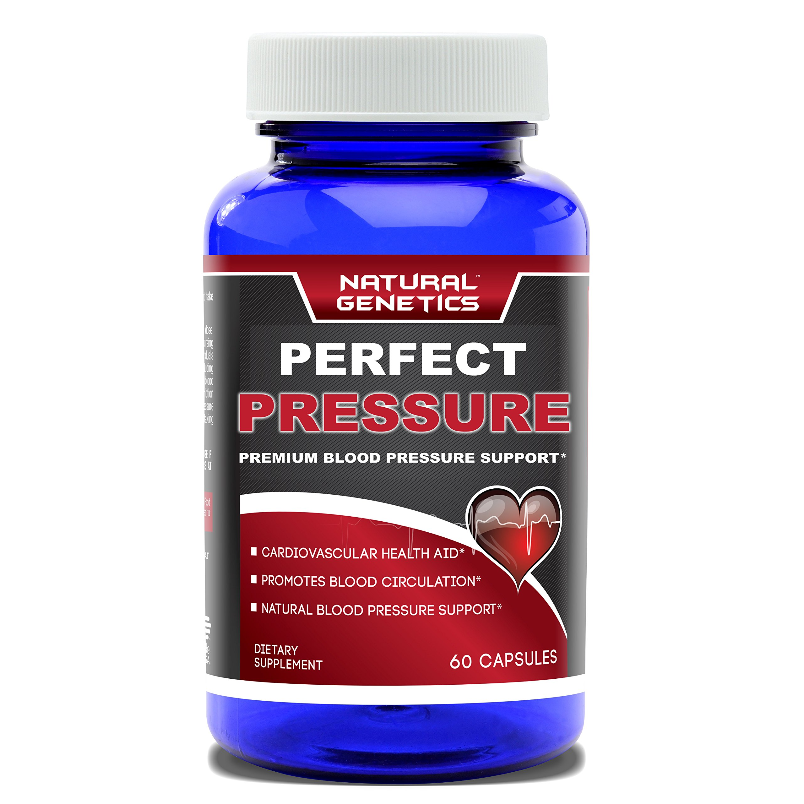 Best High Blood Pressure Support Supplement, PERFECT PRESSURE- Advanced All Natural Cardiovascular Health Aid. Effective Hawthorn Berry Formula Garlic Pills Olive Leaf. 60 Capsules