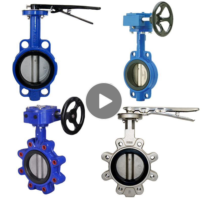 4 10 Inci PTFE Jenis Besi Ulet Cast Besi Stainless Steel Wafer Butterfly Valve Daftar Harga
