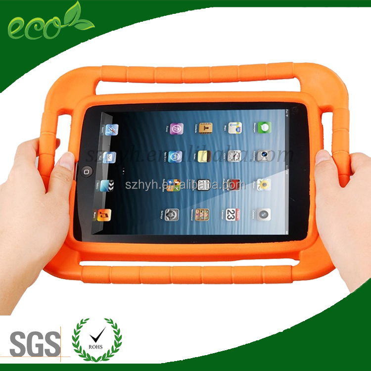 Colors kids safe Eva foam case for ipad mini,eva foam material 7inch tablet case for kids
