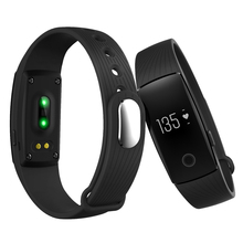 ID107 Bluetooth 4.0 Smart Bracelet smart band Heart Rate Monitor Wristband Fitness Tracker for Android iOS Smartphone